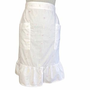 Vintage embroidered butterfly ruffle apron
